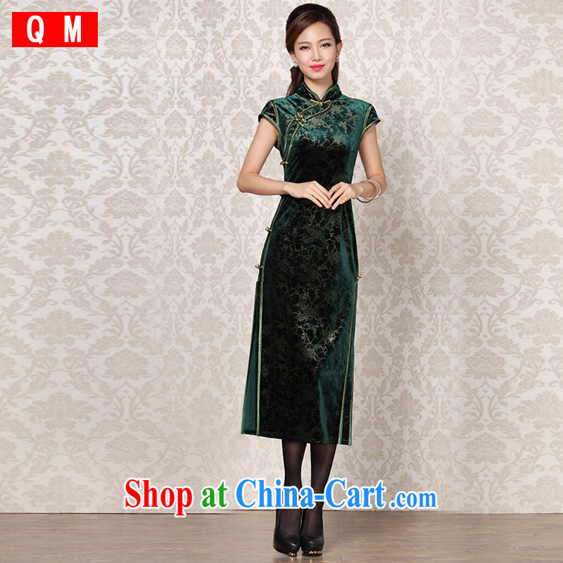 Shallow end _QM_ Improved Stylish retro banquet, qipao XWGQF 13 - 6098 photo color XXXL