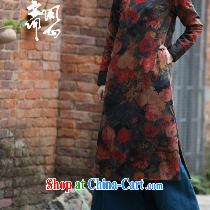 q heart Id al-Fitr autumn and winter clothes new elections at heart -- Hong Kong Ms. cloud yarn robe soft long cheongsam WXZ 1019 picture color L, ask a vegetarian, shopping on the Internet