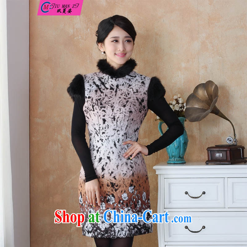 Ko Yo vines into colorful spring 2015 new thick Stylish retro Ethnic Wind hair short-sleeved style Chinese dresses qipao 2510 - 1 2510 - 3 180 _3 XL