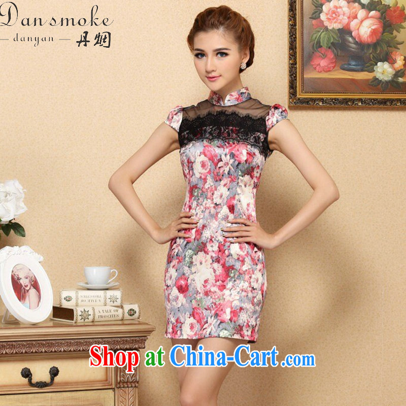 Dan smoke summer 2015, new dresses lace to spell Chinese fashion cheongsam elegant manually the Pearl improved cheongsam dress such as the color 2 XL