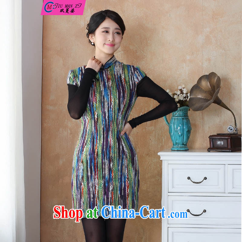 Ko Yo vines into colorful spring and autumn 2015 new hair so thick and hair stylish retro nation led the charge-back style Chinese dresses qipao 2510 - 11 2510 - 12 180/3 XL