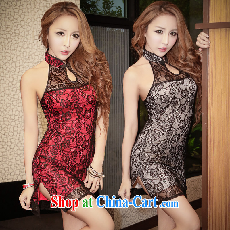 Mei Fire spring 2015 new night dresses short dresses, sleeveless back exposed improved stylish beauty package and interesting temptation 8833 yd red L code (105 - 120 ) jack