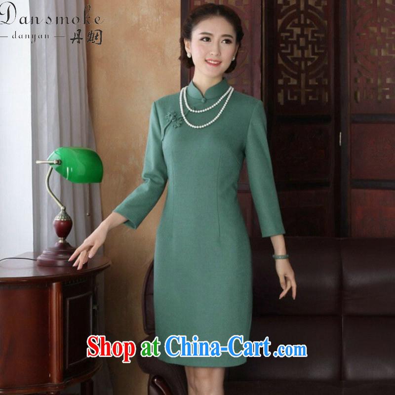 Bin Laden smoke-free 2015 spring cheongsam dress Chinese, for improved cheongsam stylish graphics thin wool that dresses qipao cheerful long-sleeved 2XL, Bin Laden smoke, shopping on the Internet