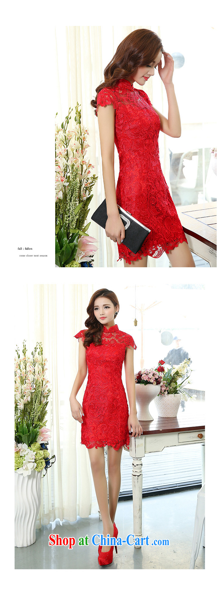 Cover Story 2015 new dress lace dresses bridal dresses with bows bridal clothing dresses red L pictures, price, brand platters! Elections are good character, the national distribution, so why buy now enjoy more preferential! Health