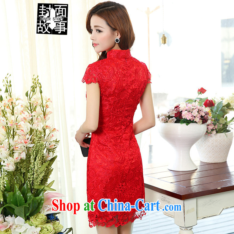 Cover Story 2015 new dress lace dresses bridal dresses with bows bridal clothing dresses red L, cover story (cover story), shopping on the Internet