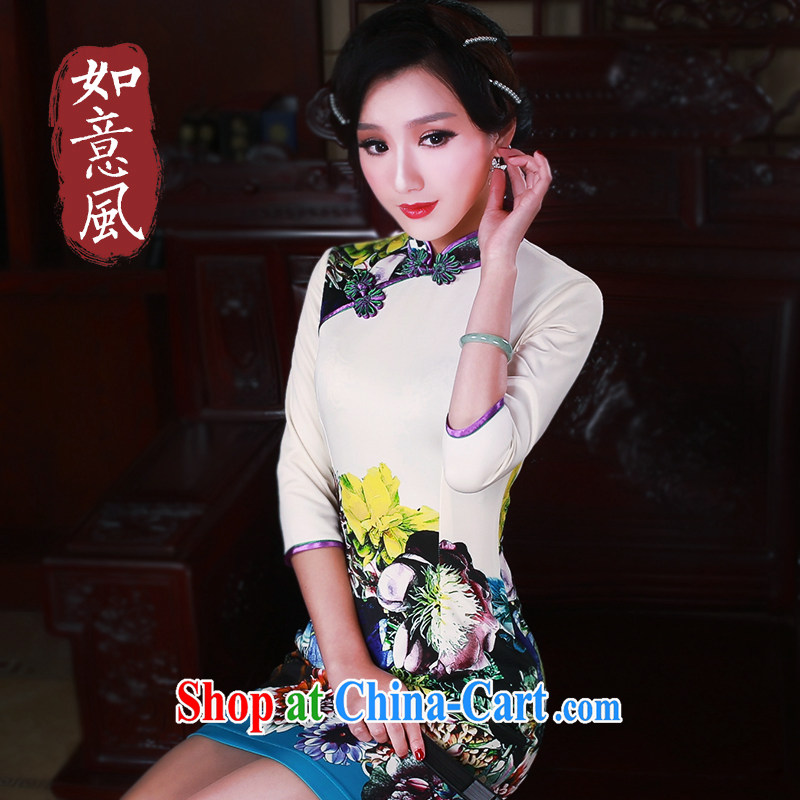 Sporting Goods wind spring 2015 new stylish cuff in daily improved retro dresses dresses 5100 fancy L