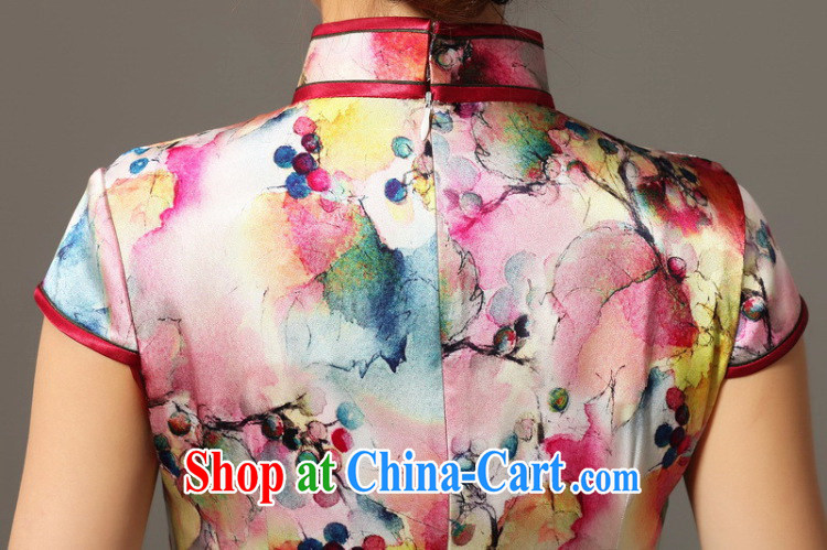 Bin Laden smoke, Mr Ronald ARCULLI cheongsam dress Chinese Chinese, dos Santos for Silk Cheongsam elegant and noble grape flower Silk Cheongsam dress shown in Figure 3XL pictures, price, brand platters! Elections are good character, the national distribution, so why buy now enjoy more preferential! Health