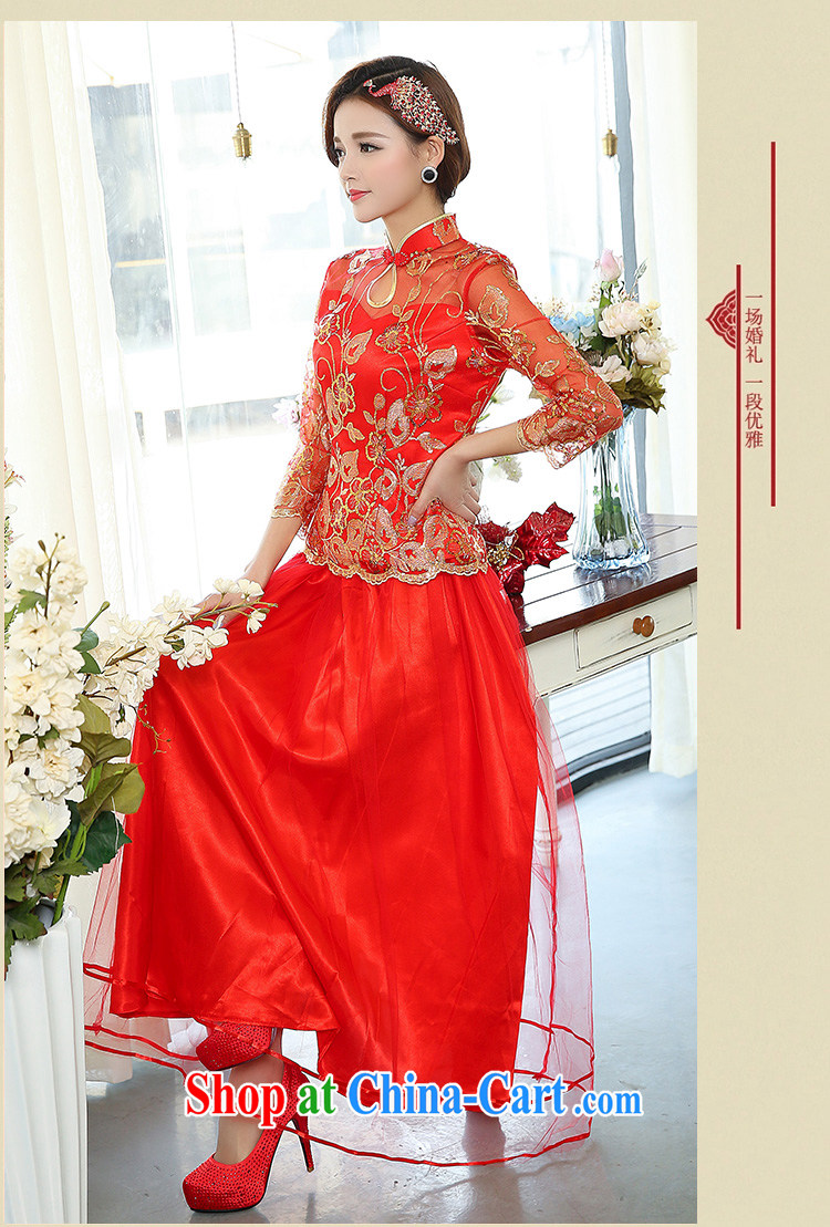 2015 New China wind antique dresses brides with bridal tea dress two-piece wedding dress larger wedding dress red XXXL pictures, price, brand platters! Elections are good character, the national distribution, so why buy now enjoy more preferential! Health