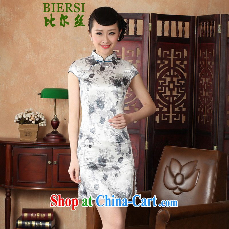 Bill's new improved Chinese qipao, for a tight beauty stamp duty short cheongsam dress such as figure 2 XL