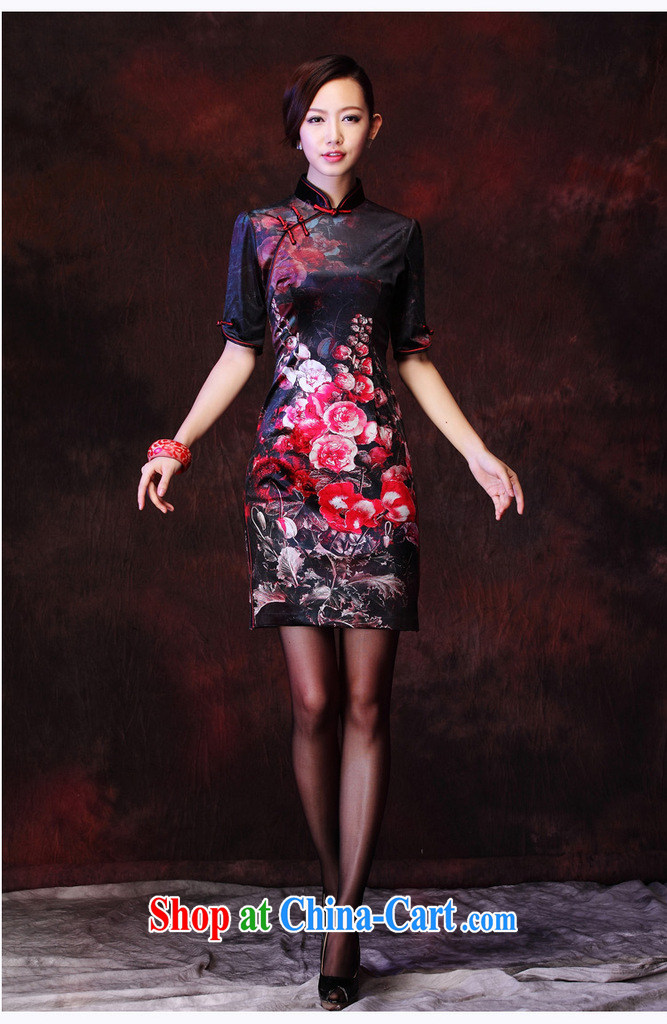 Shallow end female Korean velvet stamp retro improved marriage stylish bows elegant qipao XWG picture color XXXL pictures, price, brand platters! Elections are good character, the national distribution, so why buy now enjoy more preferential! Health