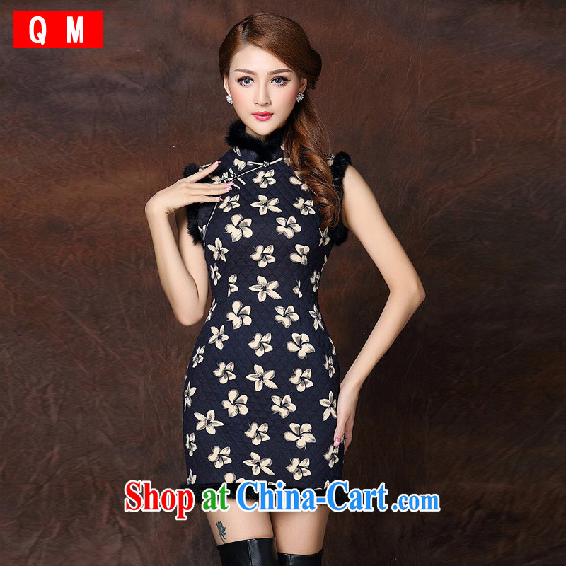 light at the improved stylish spell gross sleeveless quilted is not the Lao short cheongsam XWGQF 141,015 picture color L