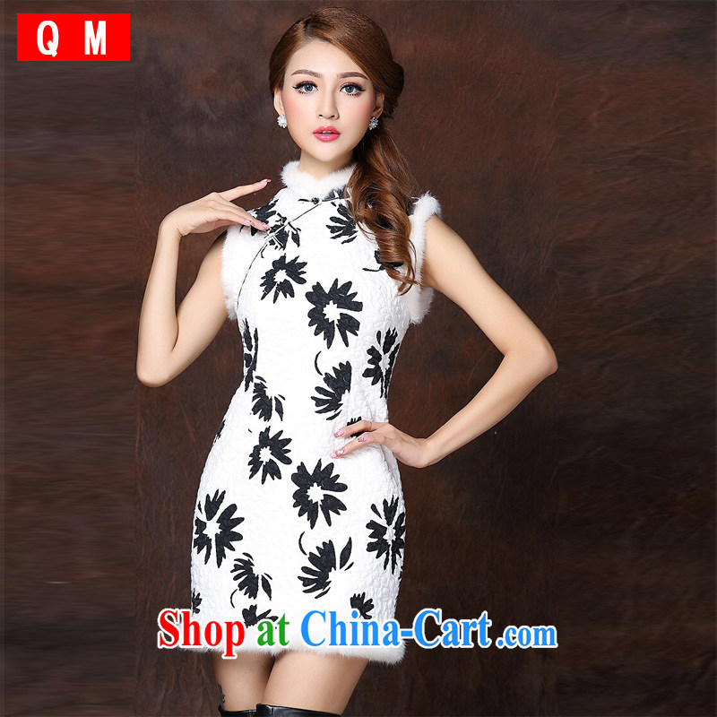light at the improved stylish spell gross sleeveless quilted is not the Lao short cheongsam XWGQF 141,011 picture color XL