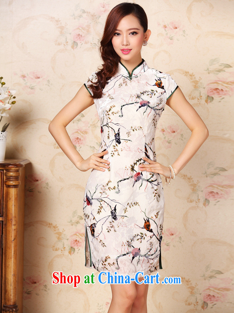 Shallow end improved Stylish retro silk sauna silk daily Leisure Short cheongsam XWG QF 1305 - 1 pictures color XXXL pictures, price, brand platters! Elections are good character, the national distribution, so why buy now enjoy more preferential! Health