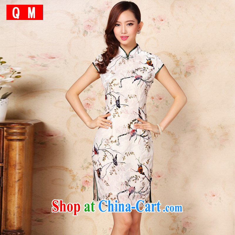 Shallow end improved Stylish retro silk sauna silk daily Leisure Short cheongsam XWG QF 1305 - 1 pictures color XXXL