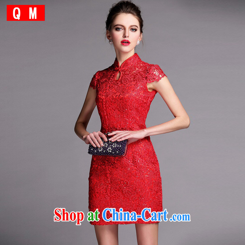 Shallow end improved stylish cultivating biological empty water-soluble, dresses wedding dresses XWGQF 140,502 red XXL
