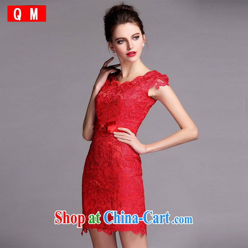 light at the improved cheongsam water soluble biological empty red dress XWGQF 140,504 red XXL