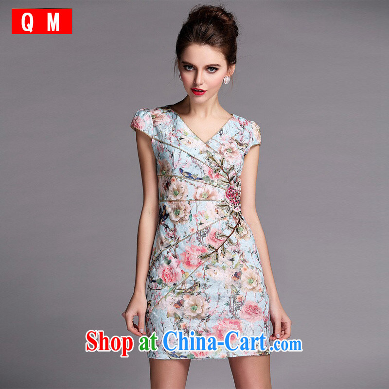 Light the cheongsam XWGQF 1405082 picture color XXL