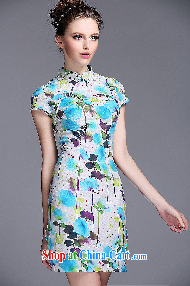 light at the linen water and ink stamp-Korea Lao wind short cheongsam XWGQF 140,531 picture color XXL pictures, price, brand platters! Elections are good character, the national distribution, so why buy now enjoy more preferential! Health