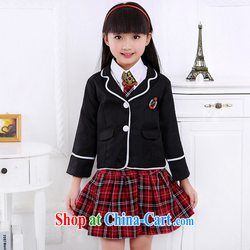 I should be grateful if you would arrange for Performing Arts Hong Kong dream Korean student uniforms uniforms, men and women couples package performance service performance Service Children's Choral service HXYM 0043 black women full 160