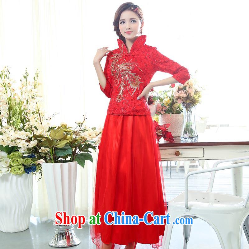 Air Shu Diane spring 2015 new two-piece dress suit Korean wedding dress bridal toast serving the door women picture color XXL