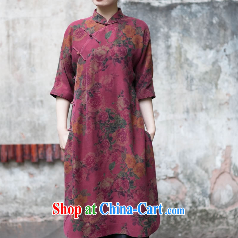 Asked about Ramadan and the Hyatt and spring as soon as possible new female Hong Kong cloud yarn-yi cheongsam dress dresses wine red manual custom 15 Day Shipping custom code number