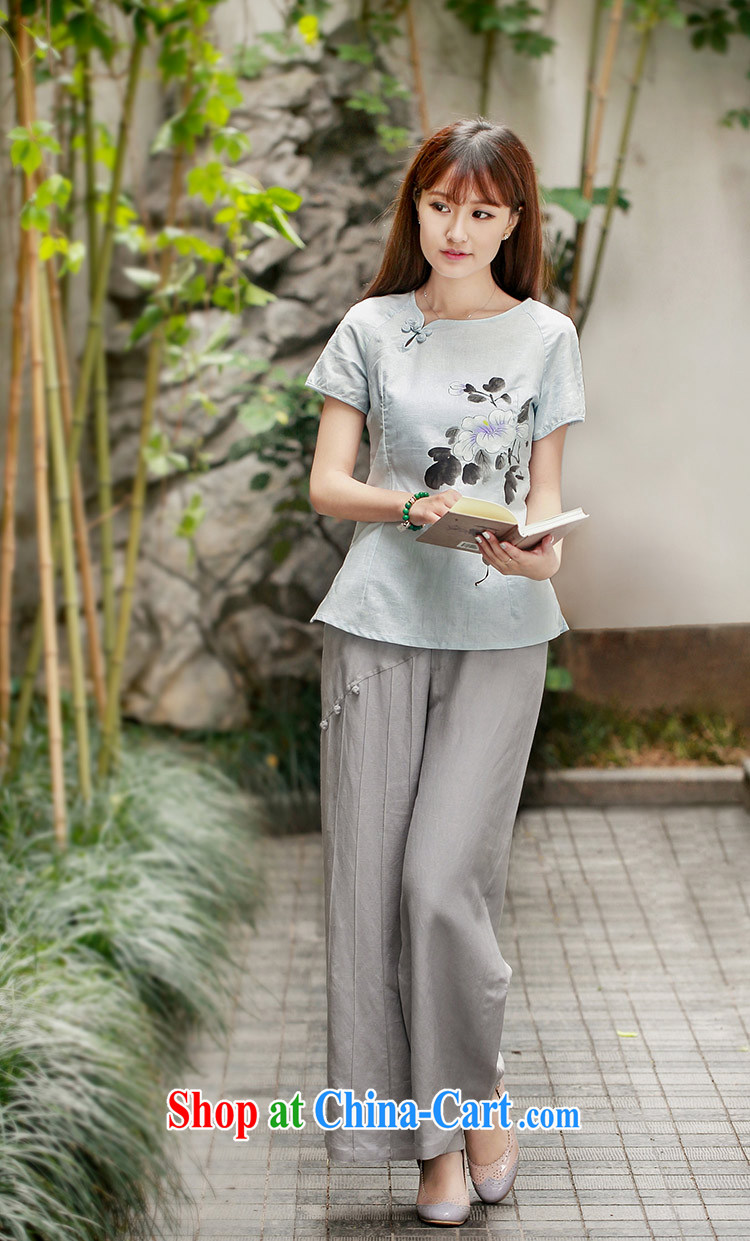 Lara lemon 40,085 retro China wind cotton the Chinese children, trouser press with original design arts, ethnic Wind Light Gray - pre-sale 15 days Shipment XXL pictures, price, brand platters! Elections are good character, the national distribution, so why buy now enjoy more preferential! Health