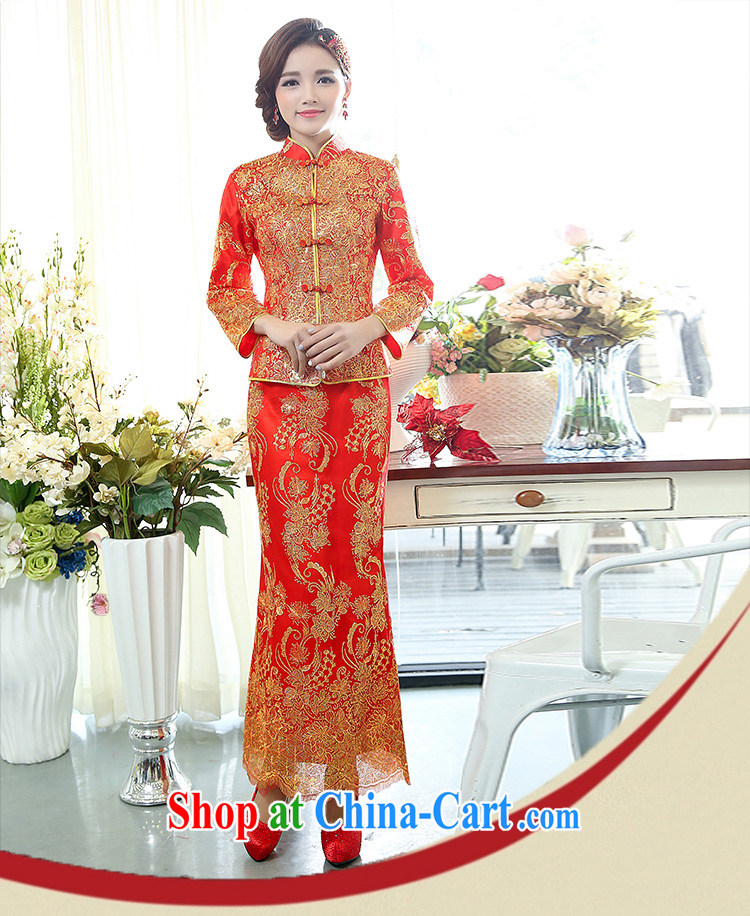 Arrogant season 2015 New Year with the Phoenix two-piece dress suit happy Chinese New Year Happy New Year Women's clothes skirts picture color XXXL pictures, price, brand platters! Elections are good character, the national distribution, so why buy now enjoy more preferential! Health