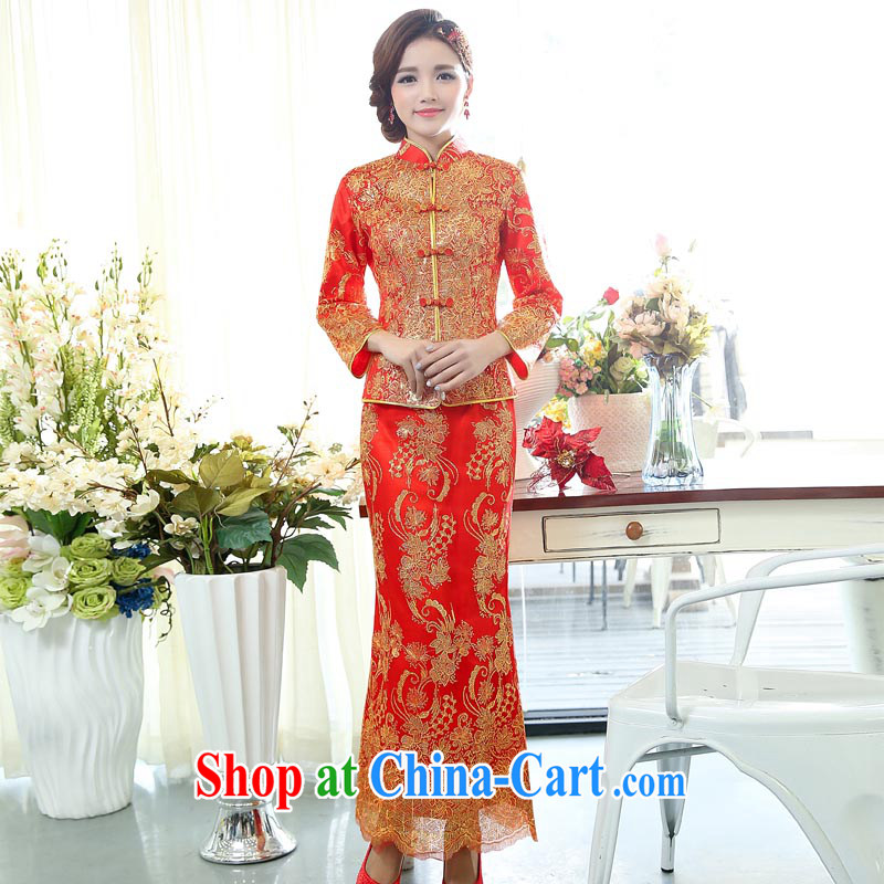 Arrogant season 2015 New Year with the Phoenix two-piece dress suit happy Chinese New Year Happy New Year Women's clothes skirts picture color XXXL