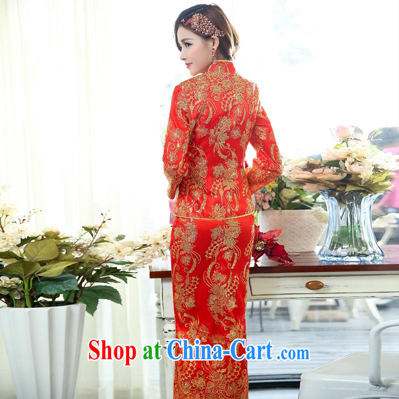 Arrogant season 2015 New Year with the Phoenix - Two-piece dress suit happy Chinese New Year Happy New Year Women's clothes skirts picture color XXXL, arrogant season (OMMECHE), shopping on the Internet