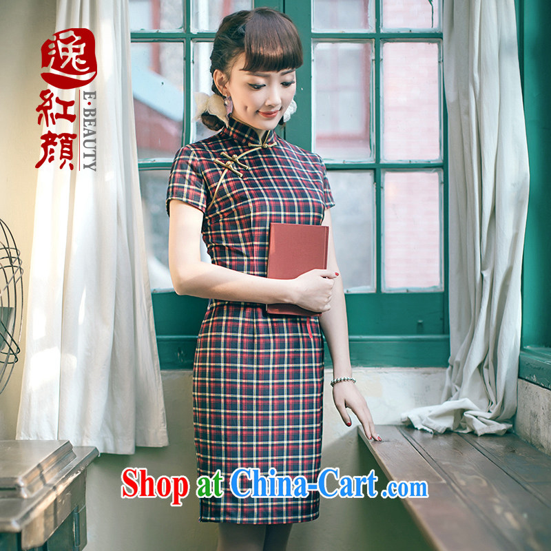 once and for all stream fatally jealous Zhu original innovation, short winter clothes everyday dresses skirts Beauty Fashion cheongsam improved retro drapery color 2 XL