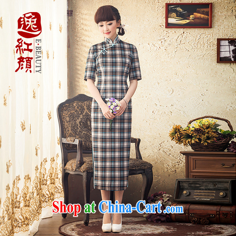 Once the proverbial hero, new daily, long-sleeved dresses winter clothing improved retro long cheongsam dress stylish blue 2 XL