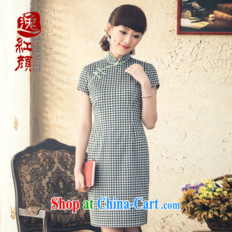 once and for all and Emily fatally jealous and new in Korea cuff cheongsam short fall and winter with stylish Daily Beauty cheongsam dress improved green 2 XL