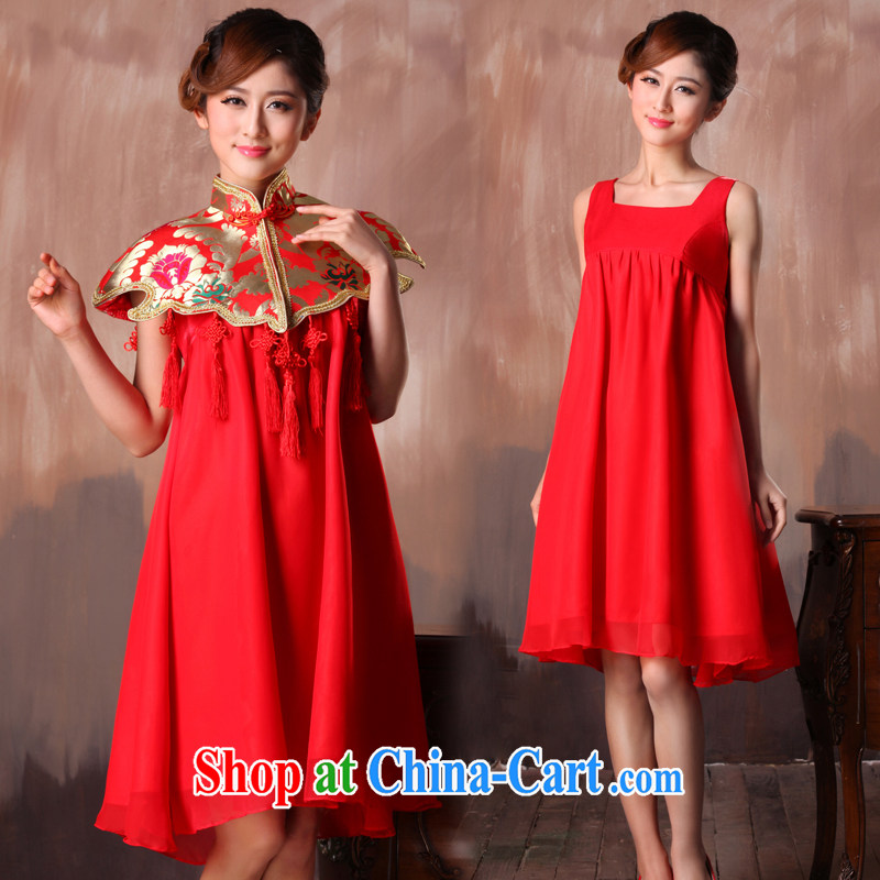 Non-you don't marry Chinese toast winter clothes girl cheongsam dress married women long-sleeved bridal wedding dresses sleeveless s