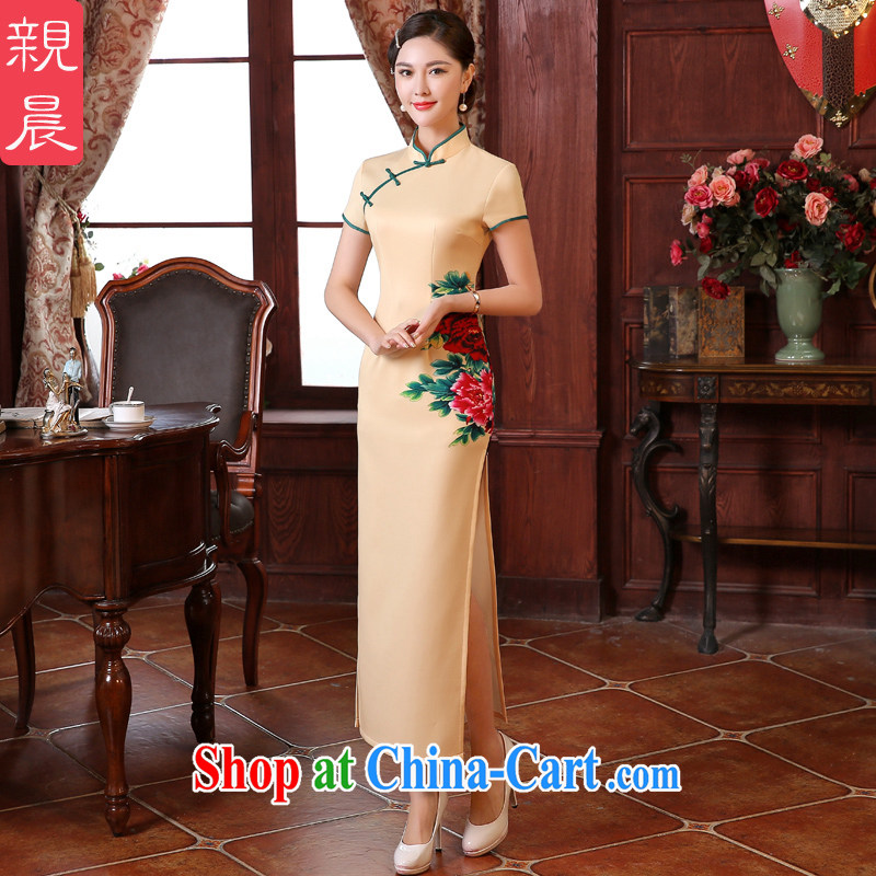 The pro-am every day as soon as possible summer retro improved stylish appearance, long wedding dresses cheongsam dress etiquette, clothing long L - waist 73 CM