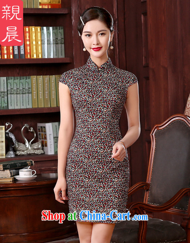 The pro-am 2015 as soon as possible new spring loaded daily traditional retro improved stylish short cheongsam dress dresses short L - waist 76 CM
