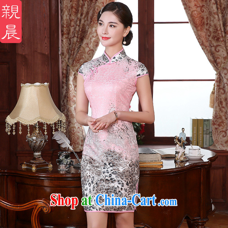 The pro-am 2015 as soon as possible new summer traditional daily retro beauty improved stylish short cheongsam dress dresses short 2 XL - waist 84 CM