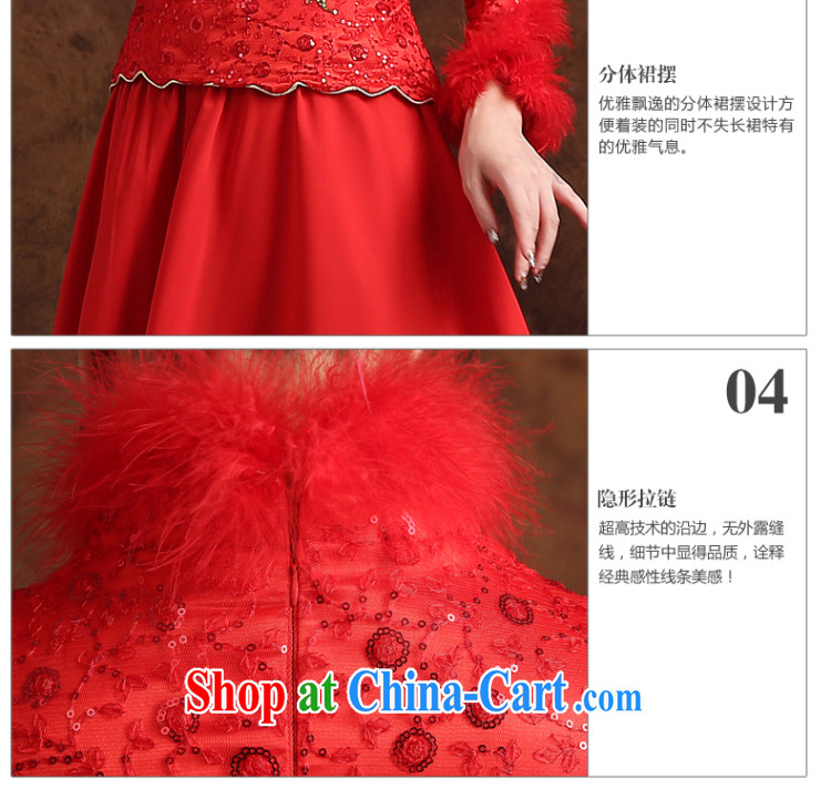 married love winter toast Service Bridal Fashion 2015 New Red wedding dresses skirt long-sleeved Chinese winter clothes dress long red XXL pictures, price, brand platters! Elections are good character, the national distribution, so why buy now enjoy more preferential! Health