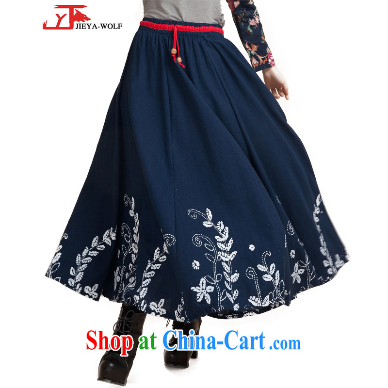 Jack And Jacob JIEYA - WOLF 2015 Tang Women's clothes spring summer and autumn, long skirt and stylish, long, Ms. swing skirt trend stars, blue are codes are codes see the details table