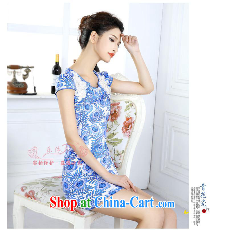 And, in accordance with blue and white porcelain classic cheongsam dress spring 2015 women dresses new short-sleeved improved lady the Pearl blue and white porcelain XXL pictures, price, brand platters! Elections are good character, the national distribution, so why buy now enjoy more preferential! Health