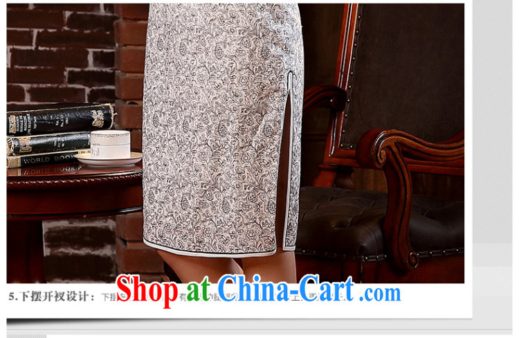 The CYD HO Kwun Tong' mini-yee quality cotton in Yau Ma Tei outfit cuff 2015 improved Stylish spring and summer New Style cheongsam dress QD 5107 fancy M pictures, price, brand platters! Elections are good character, the national distribution, so why buy now enjoy more preferential! Health