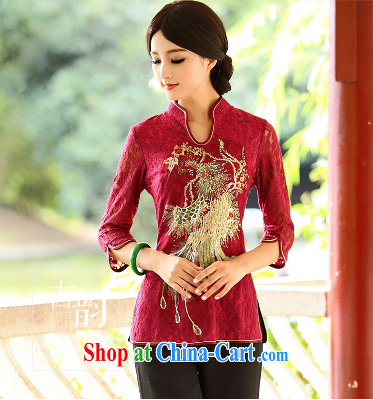 China classic * Phoenix to fly Ms. cuff in Chinese T-shirt Chinese Ethnic Wind improved bows clothes T-shirt spring XXXL Uhlans on pictures, price, brand platters! Elections are good character, the national distribution, so why buy now enjoy more preferential! Health
