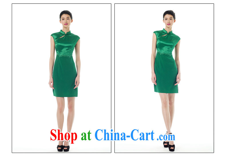 Wood is really the Chinese 2015 spring and summer new, for cultivating cheongsam dress stitching and stylish dress 42,882 14 dark green XXL (A) pictures, price, brand platters! Elections are good character, the national distribution, so why buy now enjoy more preferential! Health