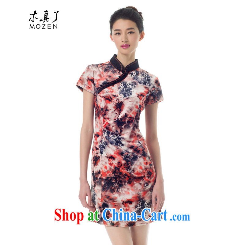 Wood is really the Chinese Tang replace 2015 spring new improved cheongsam stylish beauty dresses 43,031 12 deep yellow XXL A _ _