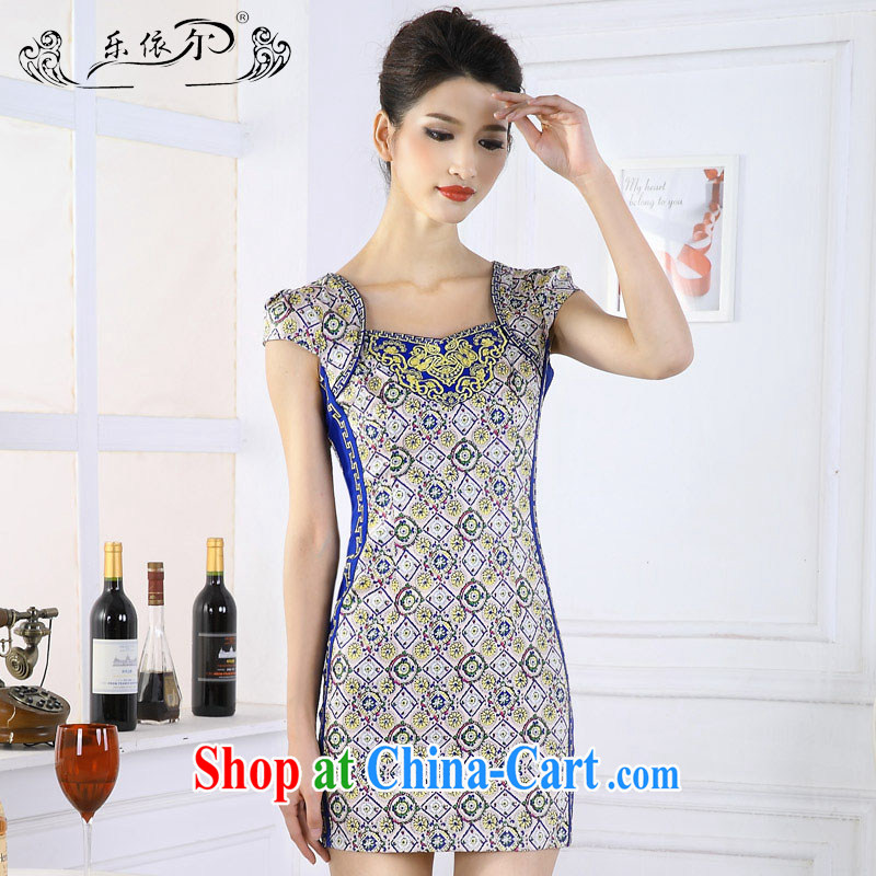 And, in accordance with antique Ethnic Wind girl cheongsam improved embroidery take short cheongsam dress classic lady graphics thin spring 66,639 LYE XXL suit
