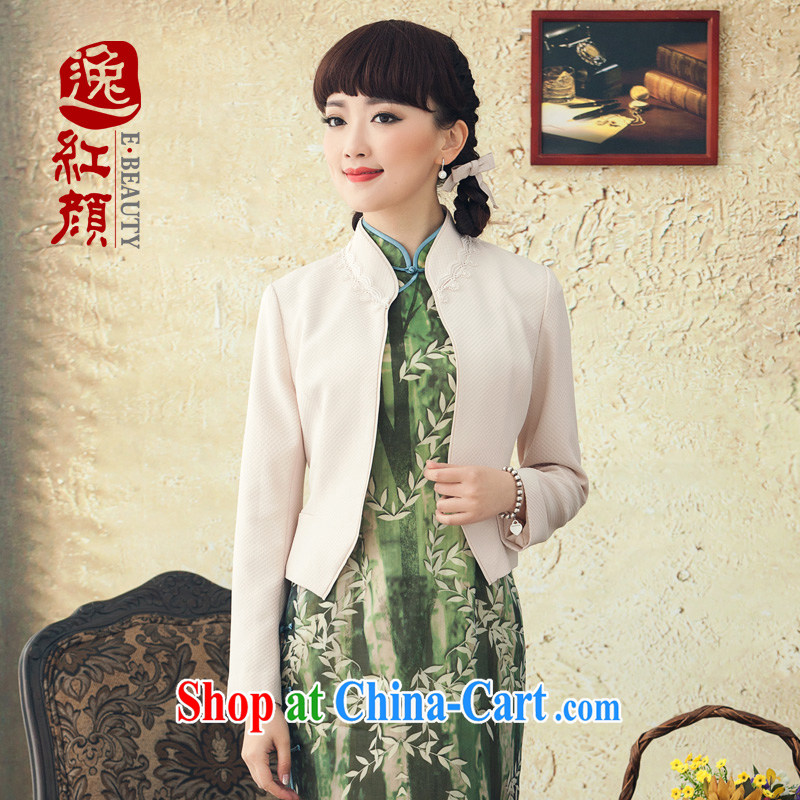 once and for all and proverbial hero cloud Song 2015 spring and summer, short-sleeved jacket female Chinese National wind, for cultivating T-shirt white XL March 27, shipping