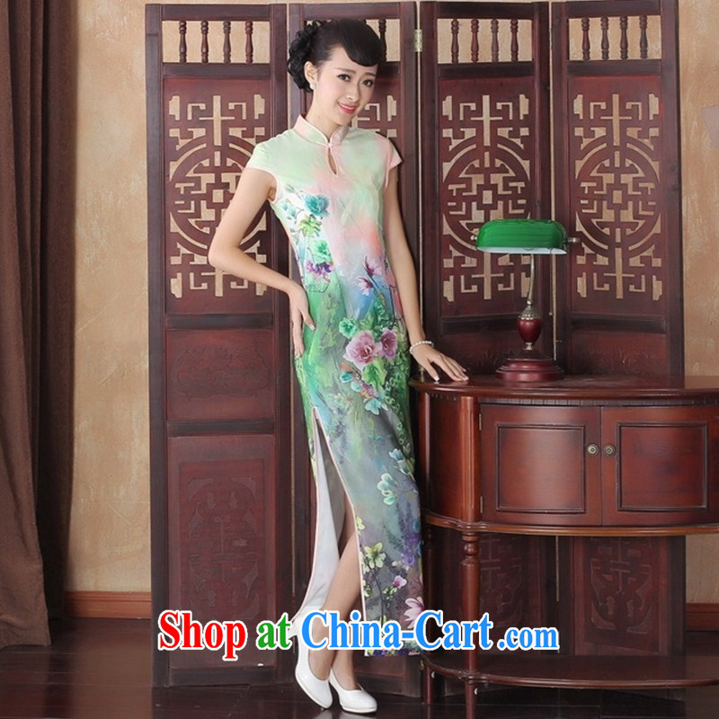 Too good to elegant sexy beauty graphics thin dresses retro show long elegance dresses new dress CQP XXL 0005