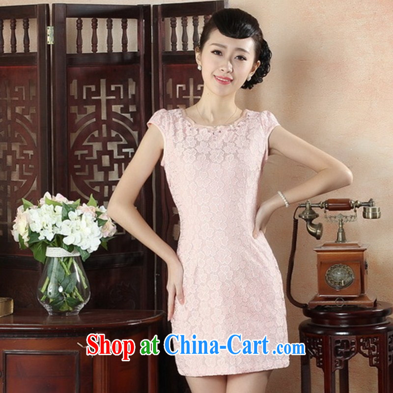Summer autumn improved stylish and elegant sexy lace cheongsam dress ladies aura beauty dress short cheongsam batch LS XXL 0016