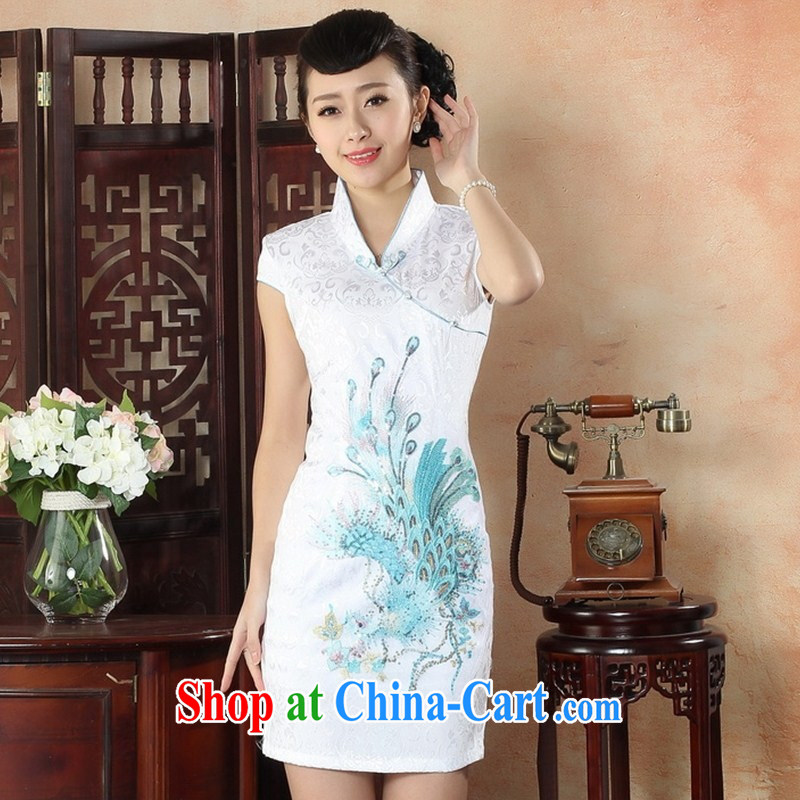 New cheongsam dress summer day-old fashioned style surrounded the code Ethnic Wind female improved cheongsam dress THM XXL 0053