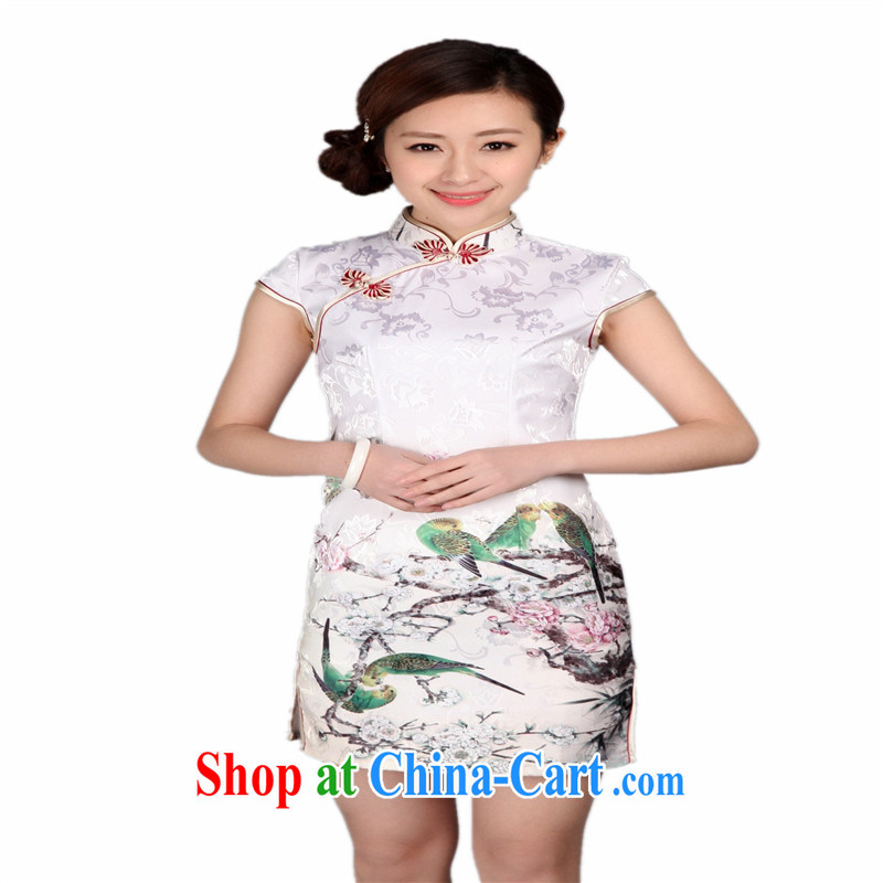 Wholesale new improved stamp duty improved cheongsam Stylish retro Sau San Tong with everyday goods low the forklift truck 0004 THM XXL