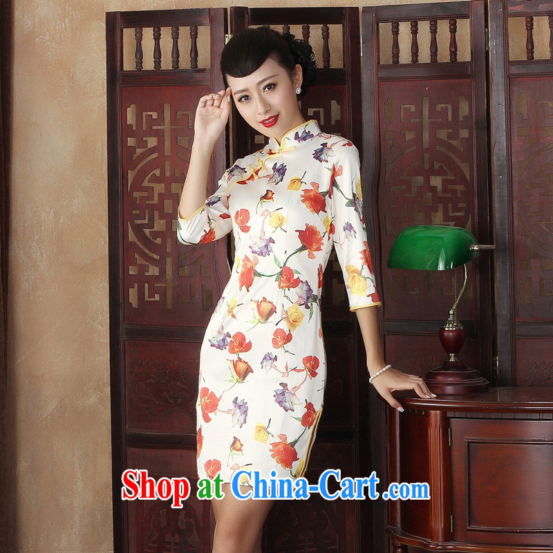 New items autumn day with antique cheongsam dress stylish Korea improved elegance video thin cheongsam dress wholesale TLMZX XXL 0003